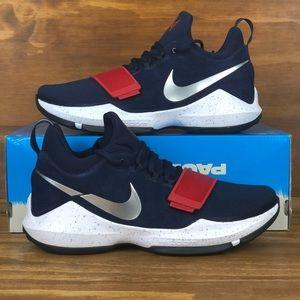 Nike PG1 Paul George USA Red White Blue Basketball